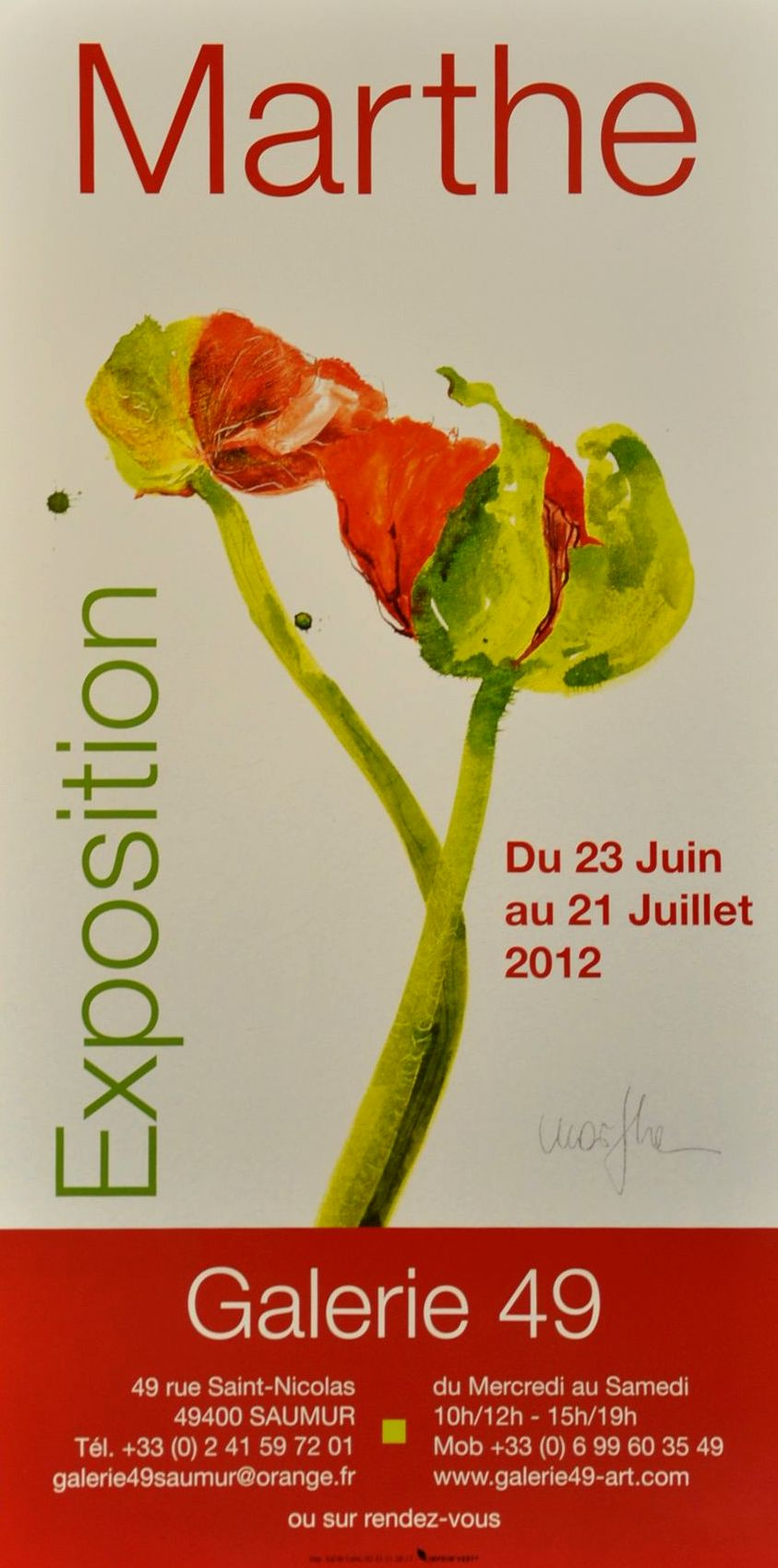 Exposition Marthe 2012 Galerie Toulouse Lauwers