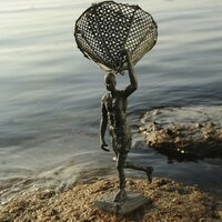 DEPART POUR LA PECHE, Bronze n°1/1, 31x11,5x10,5 cm, photo: Catherine de Torquat